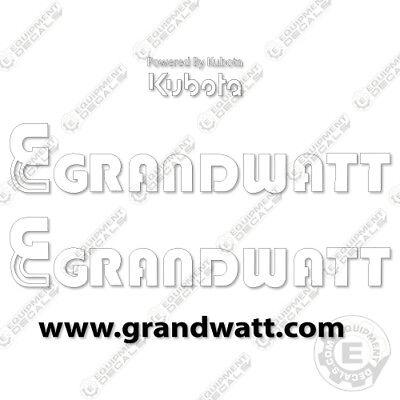 Kubota Grandwatt Light Tower Decal Kit