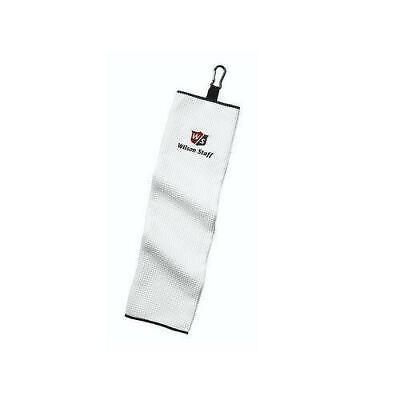 Wilson Staff Golf Microfibra Tríptica Toalla (Blanco)