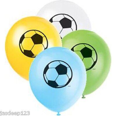 Football Theme Balloons Latex Helium Boys Soccer Party Decorations 8pk Sports