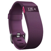 Fitbit Charge HR Wristband Tracker - Large - Plum