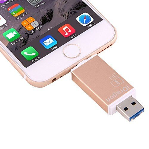 3 in 1 USB 2.0 & 8 Pin & Micro USB Metal Memory Card Reader, Support SD / TF Car