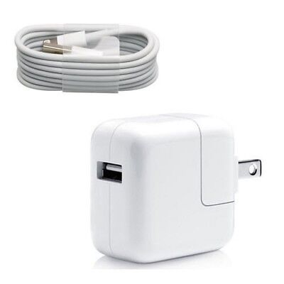 Iphone 5 Charger - APPLE ORIGINAL 10W Wall Charger + USB Charging Cable for Apple iPad/iPhone 5 6 6