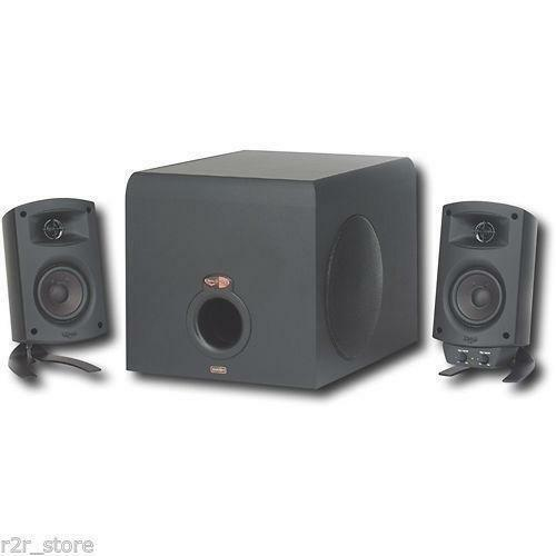 klipsch promedia 2 1 computer speakers ebay. Black Bedroom Furniture Sets. Home Design Ideas