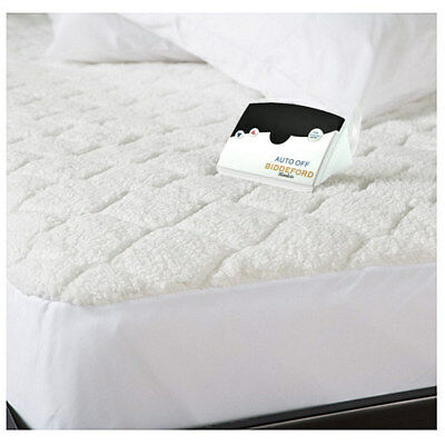 Biddeford Quilted Sherpa Electric Heated Mattress Pad Twin Full Queen King