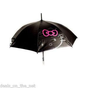 Hello Kitty Adult Walking Large Black Umbrella