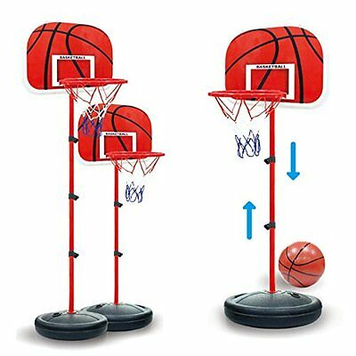 1.7M Adjustable Kids Basketball Set Back Board Stand Net Toy Indoor Outdoor Game
