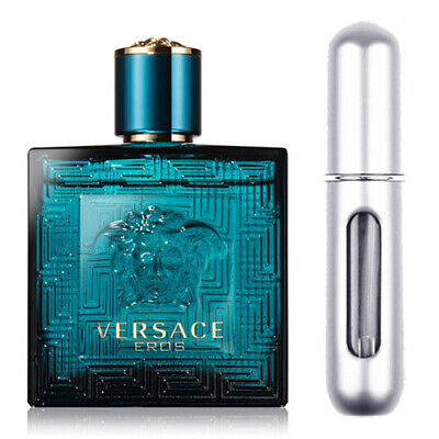 VERSACE EROS EAU DE TOILETTE 5ML SPRAY  SILVER *
