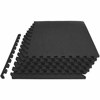 "Exercise Interlocking Mat Tiles 3/4"" EVA Foam Protective Cushioned Workout Home"