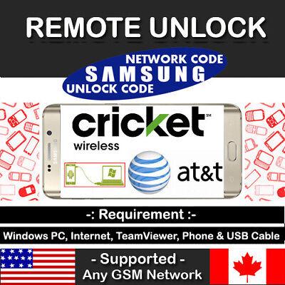 At&t Cricket Verizon USA Samsung Galaxy J3 Mission J7 Remote Unlock Code Service