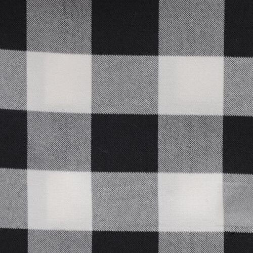 """BLACK AND WHITE CHECKERED TABLECLOTH - 60"""" x 126"""" - CHECKER PATTERN TABLECLOTHS"""