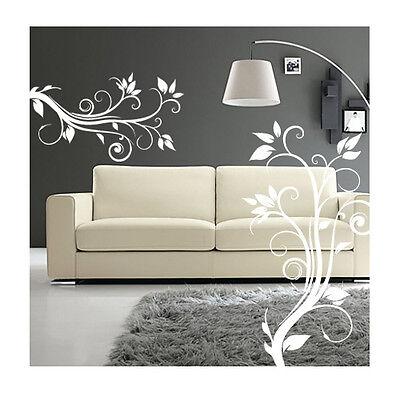 wall stickers fiori camera soggiorno armadio adesivi murali specchio a0874