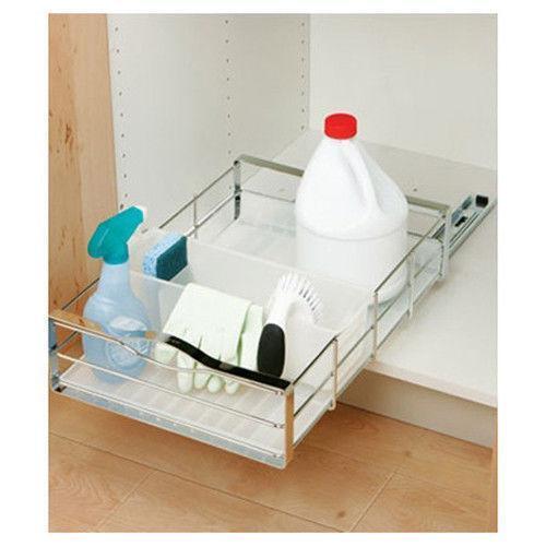 under sink storage ebay. Black Bedroom Furniture Sets. Home Design Ideas