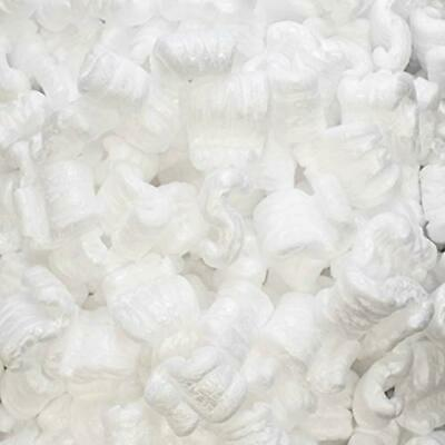 1 Cu Ft White Anti Static Packing Peanuts Popcorn S Shape Loose Fill Magicwater