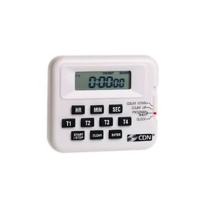 CDN-Digital-Kitchen-Timer-Clock-4-Event-Programmable-Loud-Alarm-Belt-Clip-New