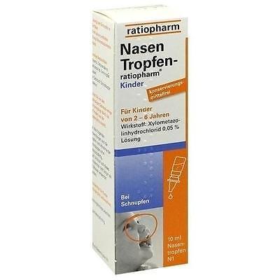 NASENTROPFEN ratiopharm Kinder Konservier.frei 10ml PZN 5006059