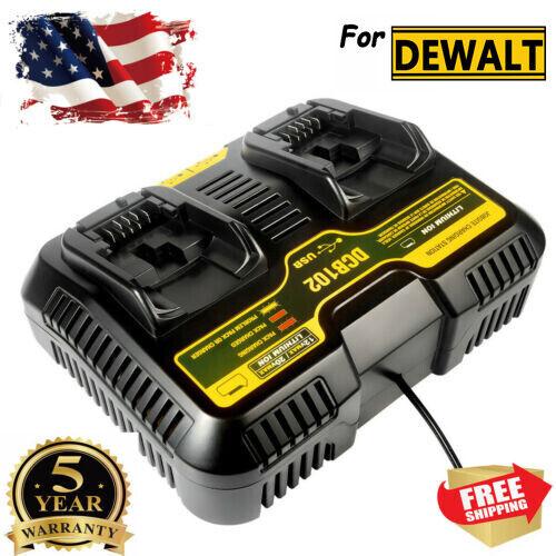 12V-20V MAX Dual Charger For Dewalt DCB200 DCB115 Lithium-Ion Battery DCB102 US