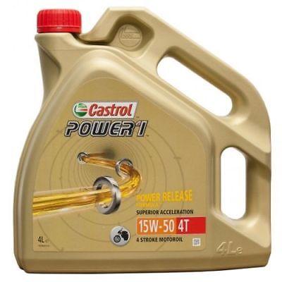 Aceite Castrol Power 1 4T 15W50 4L Moto   4 litros  ...