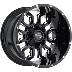 "NEW for 12016!!! 20"" HEAVY DUTY Milled black rims 8X170 #SC17"