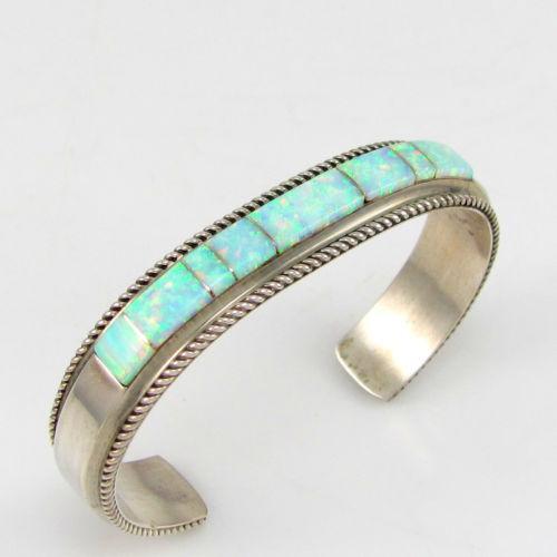 navajo inlay bracelet ebay