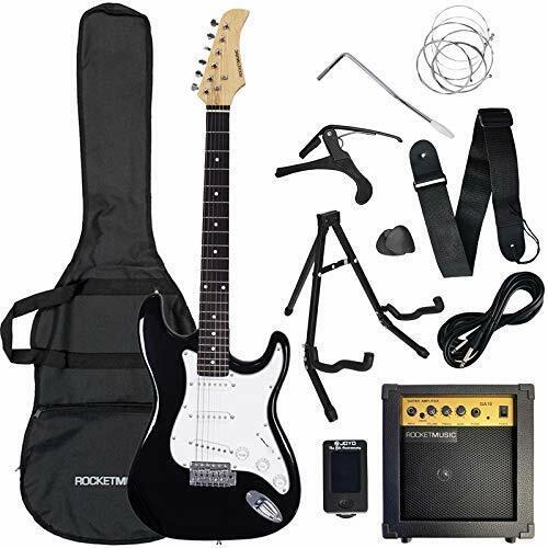 Rocket Series 4/4 Full Size Electric Guitar Premium Bundle with Amp,