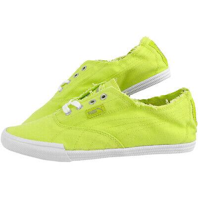 Puma Tekkies Brites Lime Sneakers Trainers Casual Shoes Unisex Plimsolls (B4)
