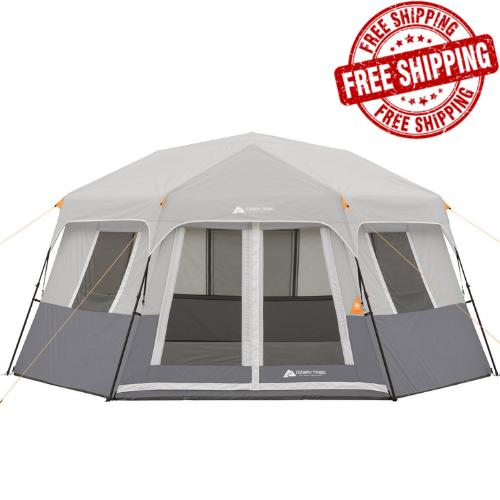 Instant Cabin Tent Ez Set Pop Up Hexagon 8 Person Outdoor Ca
