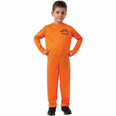NIP Boys Size Medium 8 * CONVICT * Costume By Rubies Crime Don't Pay Busted - Boys Convict Costume