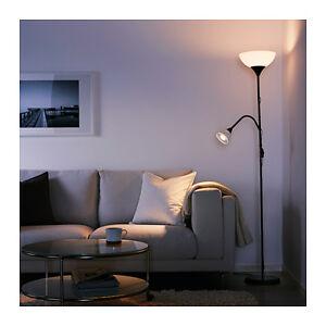 IKEA NOT Floor Uplight / Reading Dual Lamp Double Twin Lights Uplighter in Black