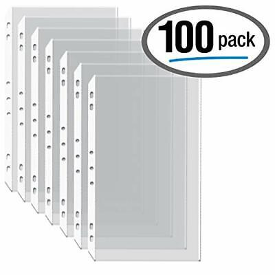 100box Legal Size Clear Heavyweight Poly Sheet Protectors Gold Seal8.5 X 14
