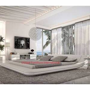 Brand New Venice Luxury Curved Pu Leather Q Bed / Take Order Only Seven Hills Blacktown Area Preview