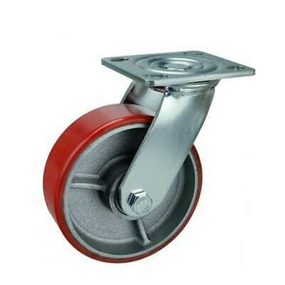 6 Inch Caster Wheel 772 Pounds Swivelbrakefixed Iron Core And Polyurethane