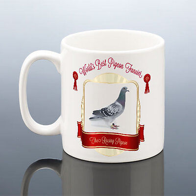 WORLDS BEST PIGEON FANCIER CUP RACING PIGEONS MUG Birthday Gift Him Dad Grandad