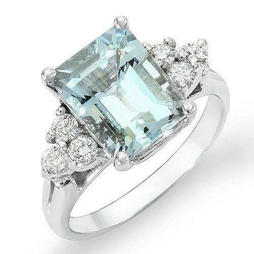 unique engagement flower rings aqua ring products aquamarine