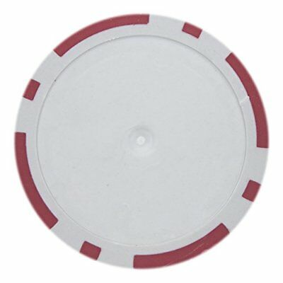- 8 Stripe Non-Denominated 14g Poker Chips, Red Clay Composite, 50-pack