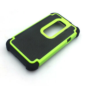 Dual Layer Impact Heavy Duty Rugged Hybrid Hard Case Cover For HTC EVO 3D Sprint