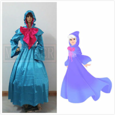 Cinderella Fairy Godmother Dress Adult Halloween Cosplay Costume Custom Made*32