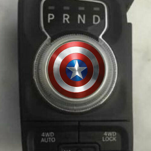 Dodge Ram Captain America Shift Knob Decal Sticker Graphic Vinyl Gear Drive Park
