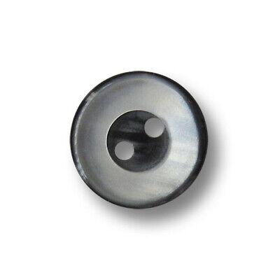 15 grau schimmernde Blusenknöpfe in grau-schwarz - günstige B-Ware! (3564sg)