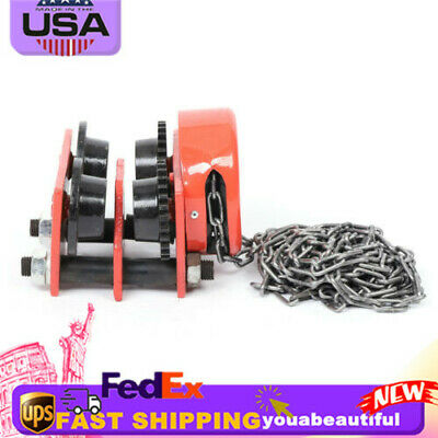 New Monorail Push Beam Trolley Hoist Winch Crane Lift Track 1 Ton W Chain Beams