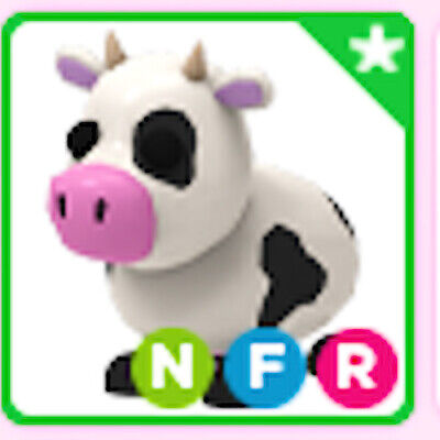 Neon Fly Ride NFR COW ( Adopt me pet )