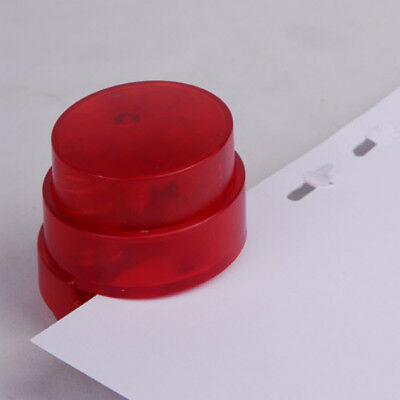 Made By Humans Staple Free Stapleless Stapler No Staples Office Translucent Red