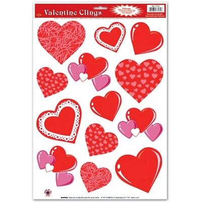 Hearts Window Clings Valentines Day Decorations Heart Decor Party Decoration](Valentines Day Party)