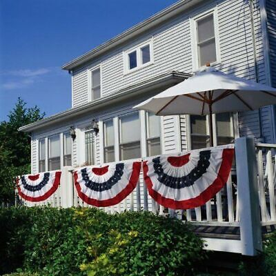 Patriotic Bunting US 4th of July Party Banner 2-Sided Flag Decor Porch Balcony - Flag Decorations