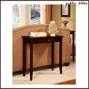 contemporary console table desk accent furniture hall entryway foyer living room ebay. Black Bedroom Furniture Sets. Home Design Ideas