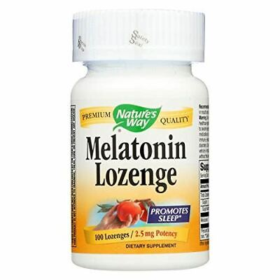 NEW Natures Way Melatonin Lozenges Promotes Good Sleep 500 Mcg 100 Tablets