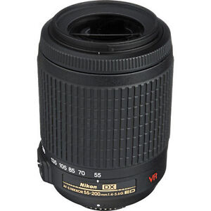 Nikon 55-200mm f/4-5.6G IF-ED AF-S DX VR Zoom-Nikkor Lens