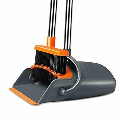 Chouqing Dust Pan and Broom Self-Cleaning with Dustpan Teeth Ideal for Dog Ca...