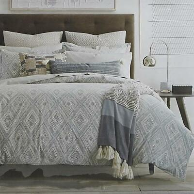 Dwell Studio Caspiane Standard Pillow Shams Cover Set of 2 Azure White Luxury