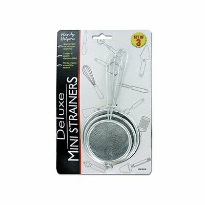 3 Piece Strainer Set - Strainer Stainless Steel Mini Strainer 3-Piece Set