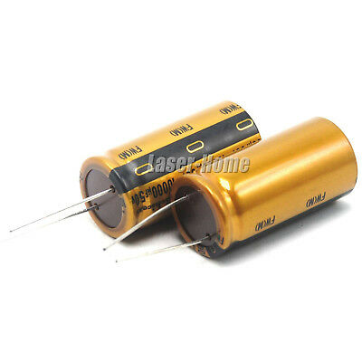 2pcs 10000uf 50v Nichicon Audio Electrolytic Capacitor For Amplifier Amp Board